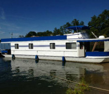 1989 Lazy Days 16x64 wide body houseboat 1